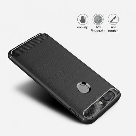 Husa OnePlus 5T - Tpu Carbon Brushed - gri5