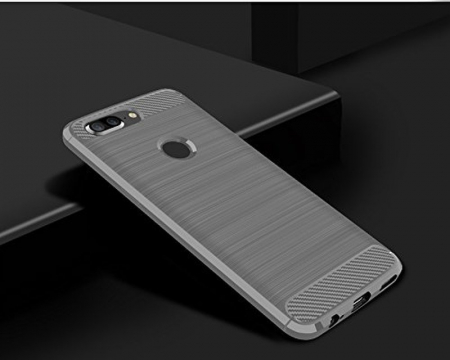 Husa OnePlus 5T - Tpu Carbon Brushed - gri1