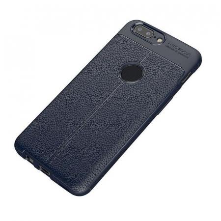 Husa OnePlus 5T - Tpu Grain - albastru1