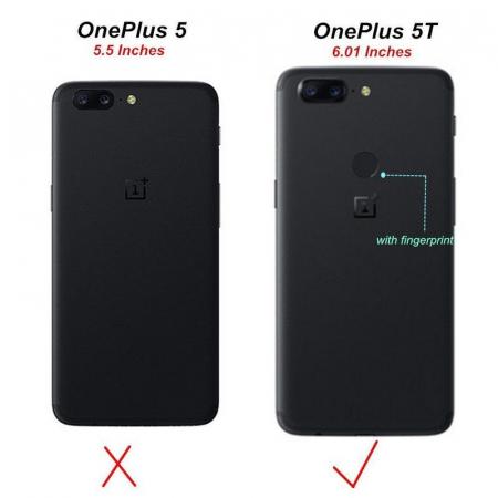 Husa OnePlus 5T - Tpu Grain - albastru8