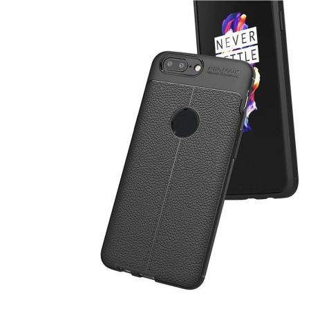 Husa OnePlus 5T - Tpu Grain - rosu3
