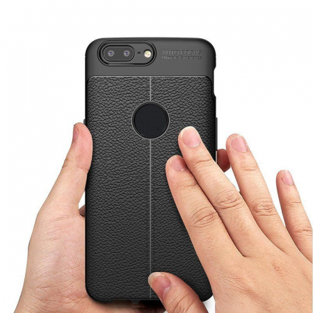 Husa OnePlus 5T - Tpu Grain - rosu5