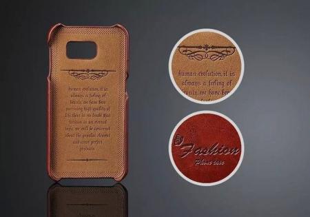 Husa piele Fashion Case  Samsung S6 - maro2