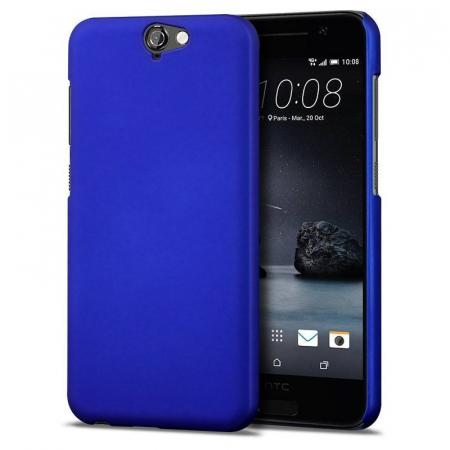 Husa HTC One A9 plastic cauciucat - albastru0