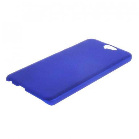 Husa HTC One A9 plastic cauciucat - albastru3
