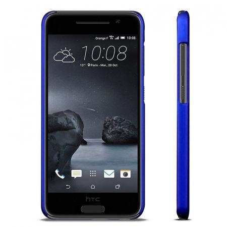 Husa HTC One A9 plastic cauciucat - albastru5