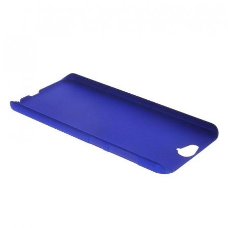 Husa HTC One A9 plastic cauciucat - albastru1