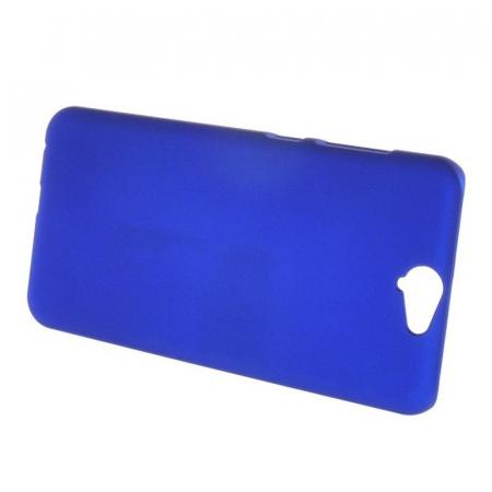 Husa HTC One A9 plastic cauciucat - albastru4