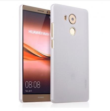 Husa plastic cauciucat Huawei Ascend Mate 8 - alb0