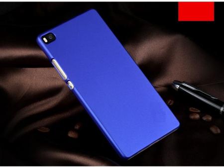 Husa plastic cauciucat Huawei Ascend P8 - albastru1