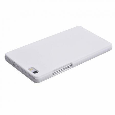 Husa plastic cauciucat Huawei Ascend P8 lite - alb4