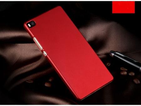 Husa plastic cauciucat Huawei Ascend P8 - rosu1