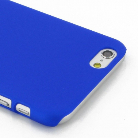 Husa iPhone 6 / iPhone 6s plastic cauciucat - albastru3