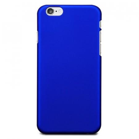 Husa iPhone 6 / iPhone 6s plastic cauciucat - albastru0