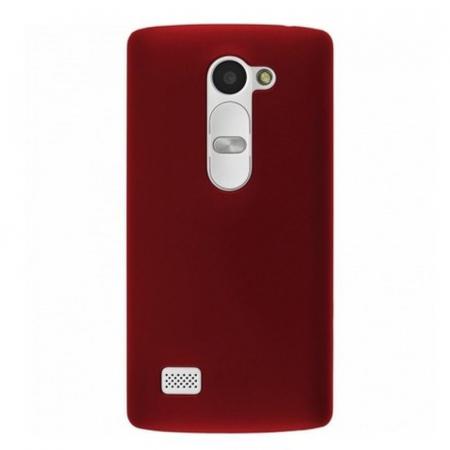 Husa LG Leon plastic cauciucat - rosu1