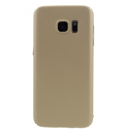 Husa plastic cauciucat Samsung Galaxy S7 - gold2