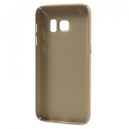 Husa plastic cauciucat Samsung Galaxy S7 - gold1