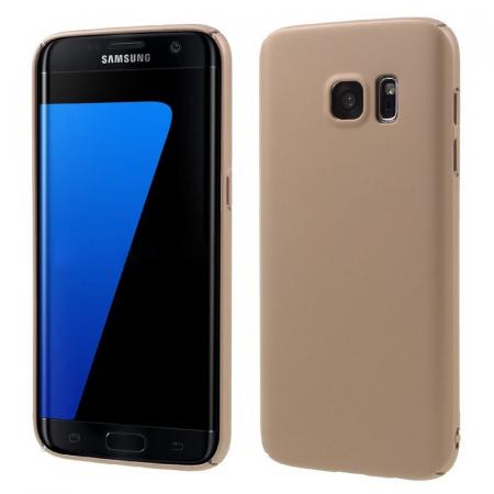 Husa plastic cauciucat Samsung Galaxy S7 - rose gold [0]