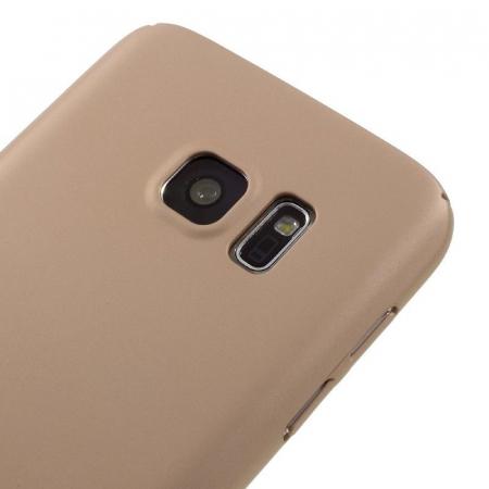 Husa plastic cauciucat Samsung Galaxy S7 - rose gold [2]