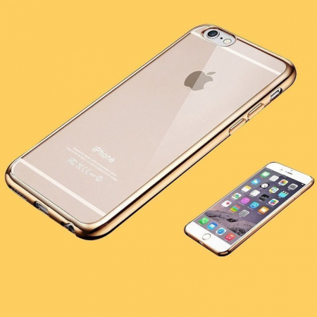 Husa  iPhone 6 / iPhone 6s Plating TPU 0.3 mm - argintiu3