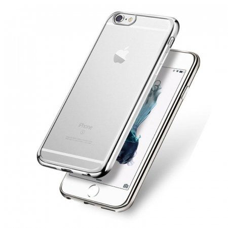 Husa  iPhone 6 / iPhone 6s Plating TPU 0.3 mm - argintiu0