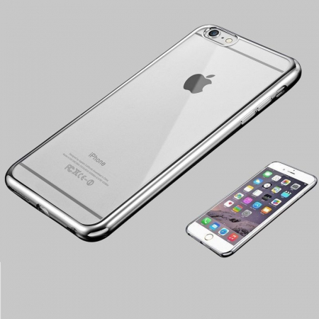 Husa  iPhone 6 / iPhone 6s Plating TPU 0.3 mm - argintiu2