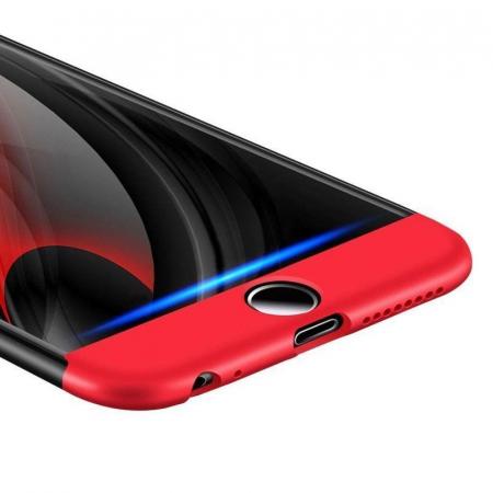 Husa   protectie 360 grade folie sticla inclusa iPhone 7 / iPhone 8 - gold4