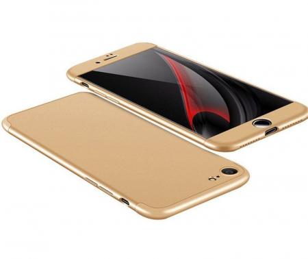 Husa   protectie 360 grade folie sticla inclusa iPhone 7 / iPhone 8 - gold2