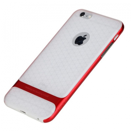 Husa iPhone 6 / iPhone 6s Rock Royce Ultra Slim Hybrid -   rosu / semitransparent0