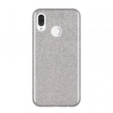Husa Samsung A50 Shiny TPU Sclipici – Argintiu0
