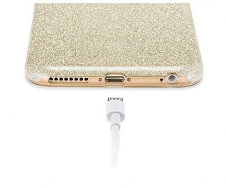 Husa Samsung A50 Shiny TPU Sclipici – Gold1