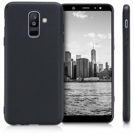 Husa    Samsung A6 Plus 2018  Silicon Matte TPU extra slim - negru1