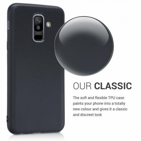 Husa    Samsung A6 Plus 2018  Silicon Matte TPU extra slim - negru4