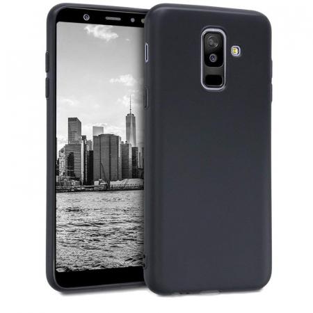 Husa    Samsung A6 Plus 2018  Silicon Matte TPU extra slim - negru0