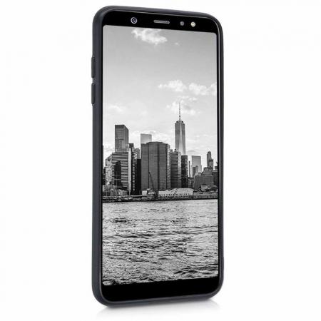 Husa    Samsung A6 Plus 2018  Silicon Matte TPU extra slim - negru2