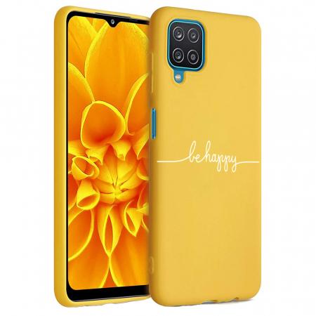 Husa Samsung Galaxy A12 - A42  - Silicon Matte - Be Happy [1]