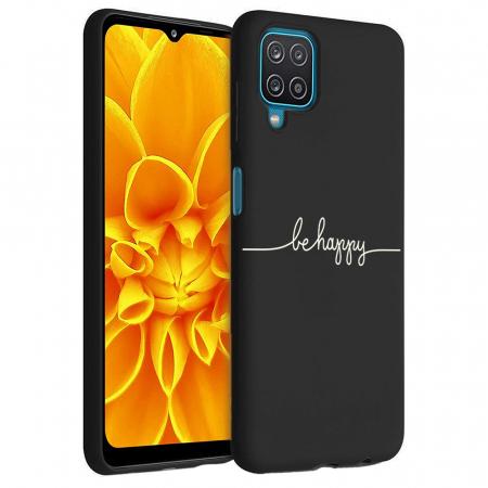 Husa Samsung Galaxy A12 - A42  - Silicon Matte - Be Happy [6]