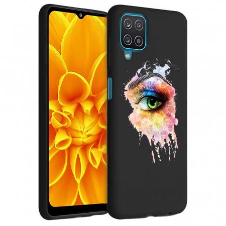 Husa Samsung Galaxy A12 - A42  - Silicon Matte - Colored eye [2]