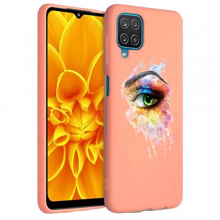 Husa Samsung Galaxy A12 - A42  - Silicon Matte - Colored eye [4]