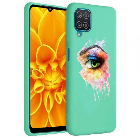 Husa Samsung Galaxy A12 - A42  - Silicon Matte - Colored eye [3]