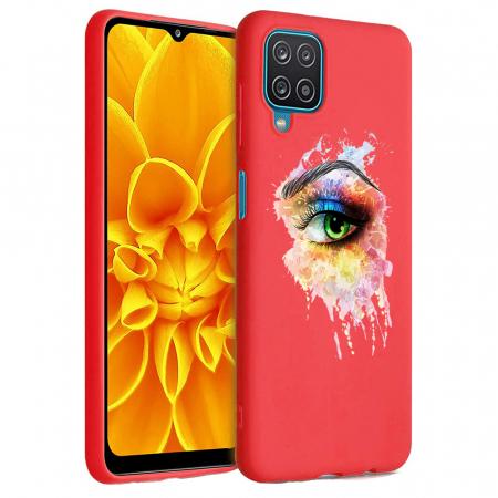 Husa Samsung Galaxy A12 - A42  - Silicon Matte - Colored eye [5]