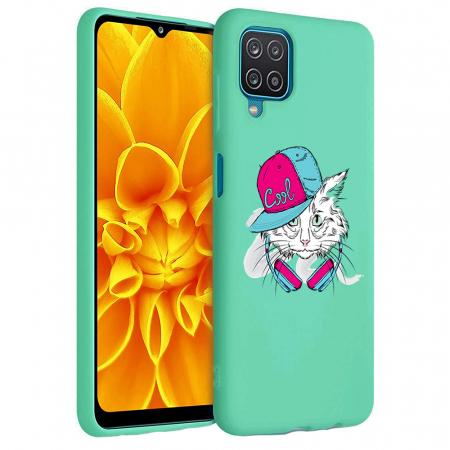 Husa Samsung Galaxy A12 - A42  - Silicon Matte - Cool Cat [3]