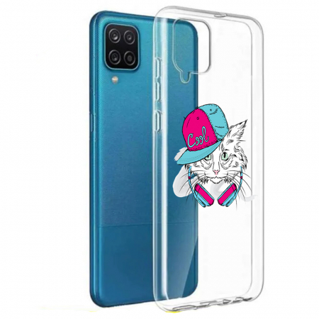 Husa Samsung Galaxy A12 - A42  - Silicon Matte - Cool Cat [0]