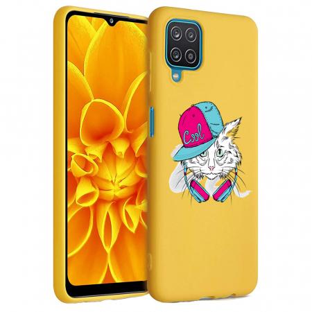 Husa Samsung Galaxy A12 - A42  - Silicon Matte - Cool Cat [1]