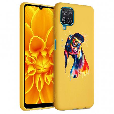 Husa Samsung Galaxy A12 - A42  - Silicon Matte - Crazy Dog [6]