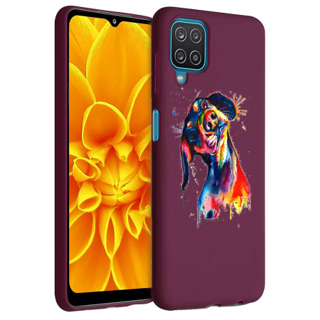 Husa Samsung Galaxy A12 - A42  - Silicon Matte - Crazy Dog [0]