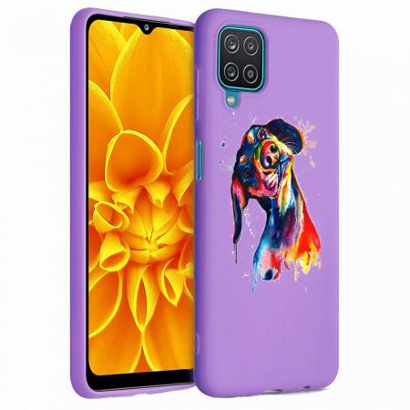 Husa Samsung Galaxy A12 - A42  - Silicon Matte - Crazy Dog [3]