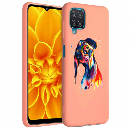 Husa Samsung Galaxy A12 - A42  - Silicon Matte - Crazy Dog [1]