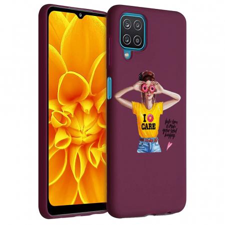 Husa Samsung Galaxy A12 - A42  - Silicon Matte - Don't Care [1]