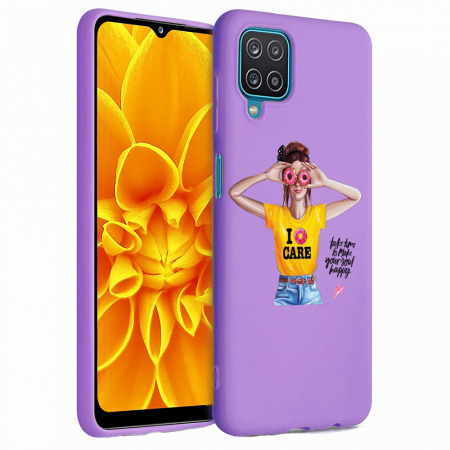 Husa Samsung Galaxy A12 - A42  - Silicon Matte - Don't Care [4]